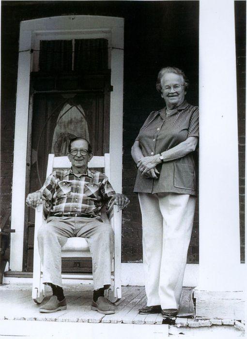 J&L on the porch