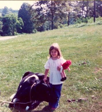 Tonya and Cow